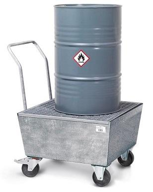 Mobile retaining tanks with grating